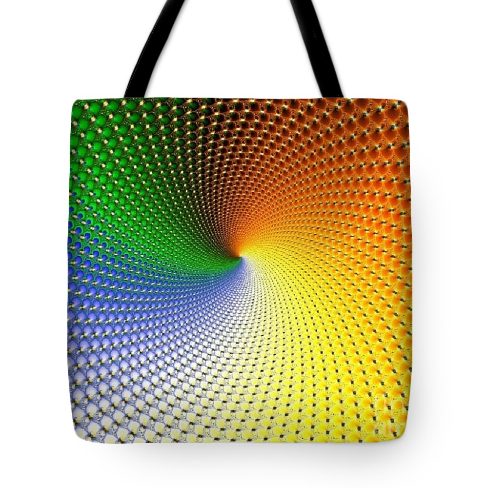 Tote Bag featuring the digital art Fractal 2 by Taylor Webb