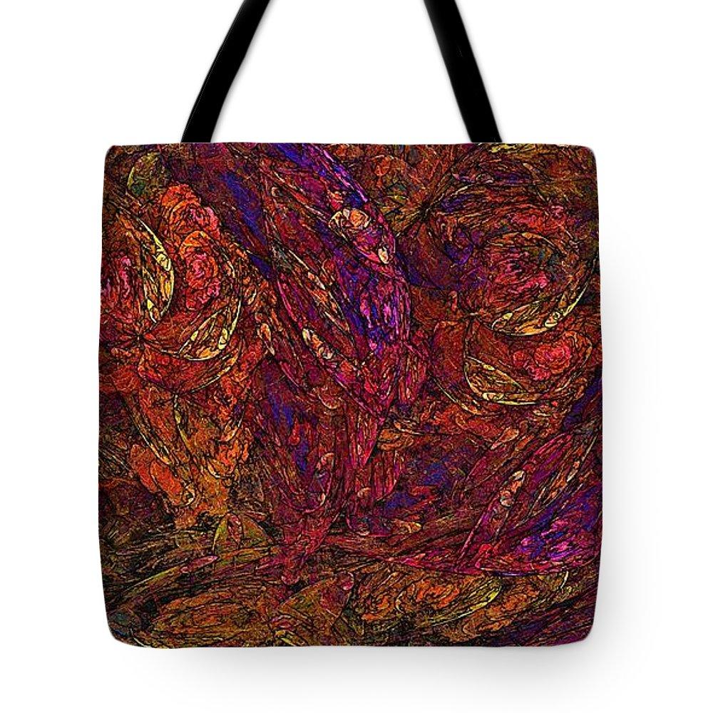 Floral Tote Bag featuring the digital art Fractal Florist by Doug Morgan