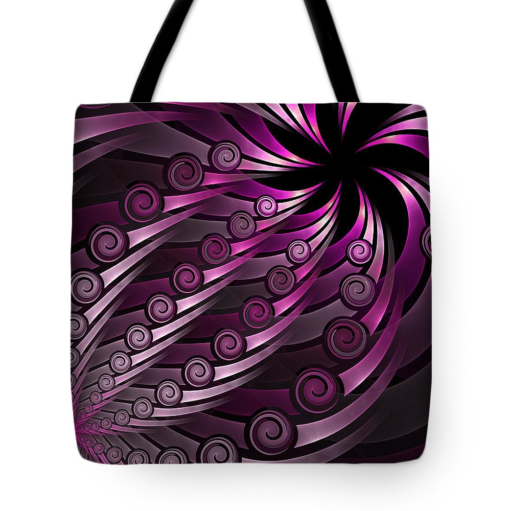 Fractal Tote Bag featuring the digital art Fractal On The Way 2 by Gabiw Art