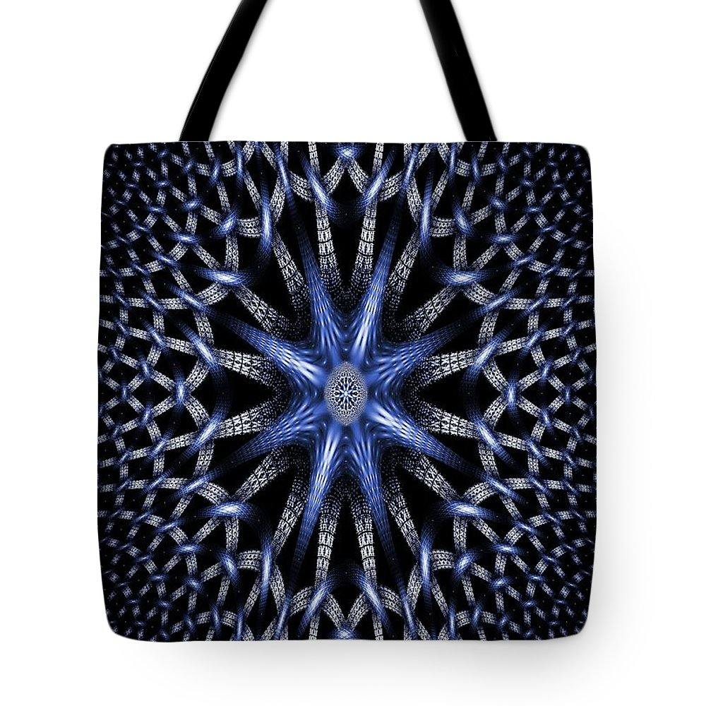 Abstract Tote Bag featuring the digital art Fractal Weave by Brian Raggatt