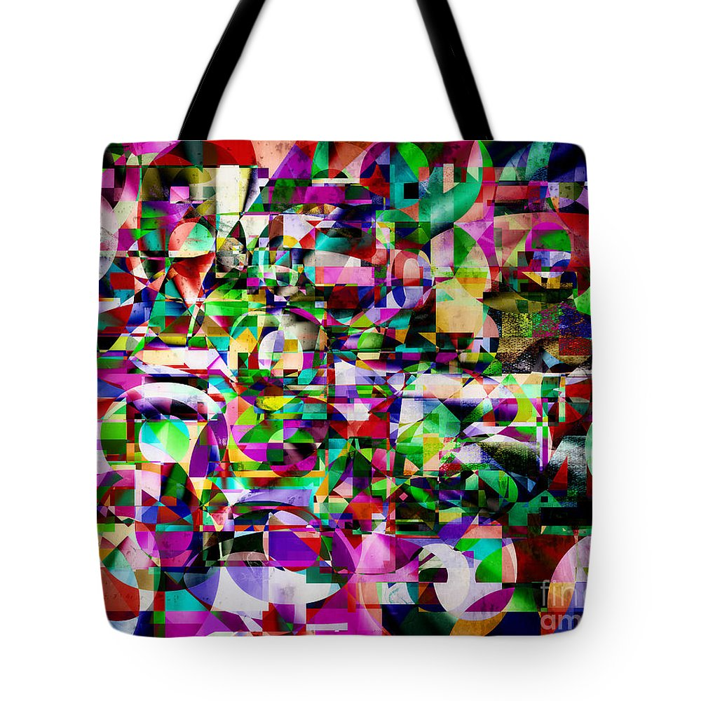 Horizontal Tote Bag featuring the digital art Fractured Fairytales by Edmund Nagele