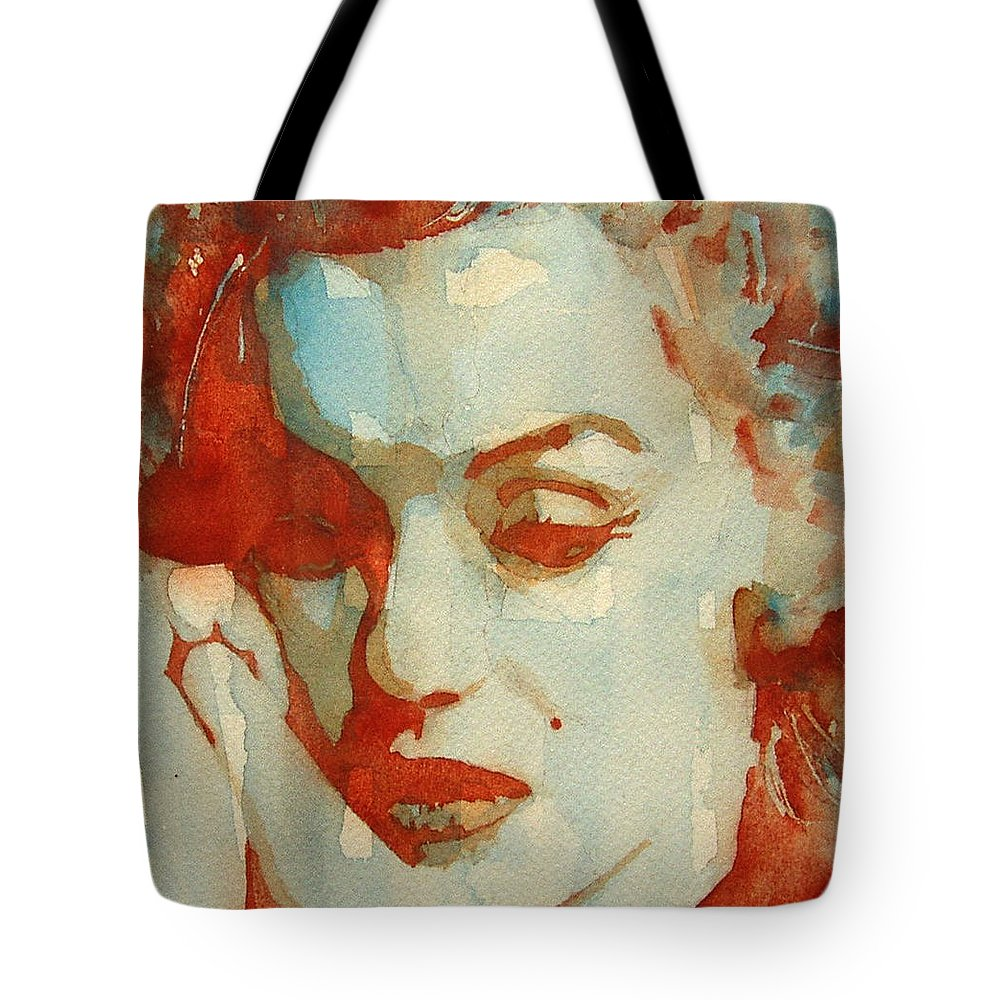 Marilyn Monroe Tote Bag featuring the painting Fragile by Paul Lovering