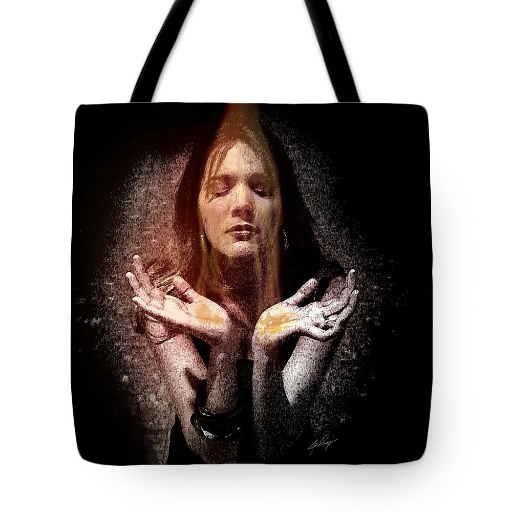 Fragrance Of Worship Tote Bag featuring the painting Fragrance Of Worship by Jennifer Page