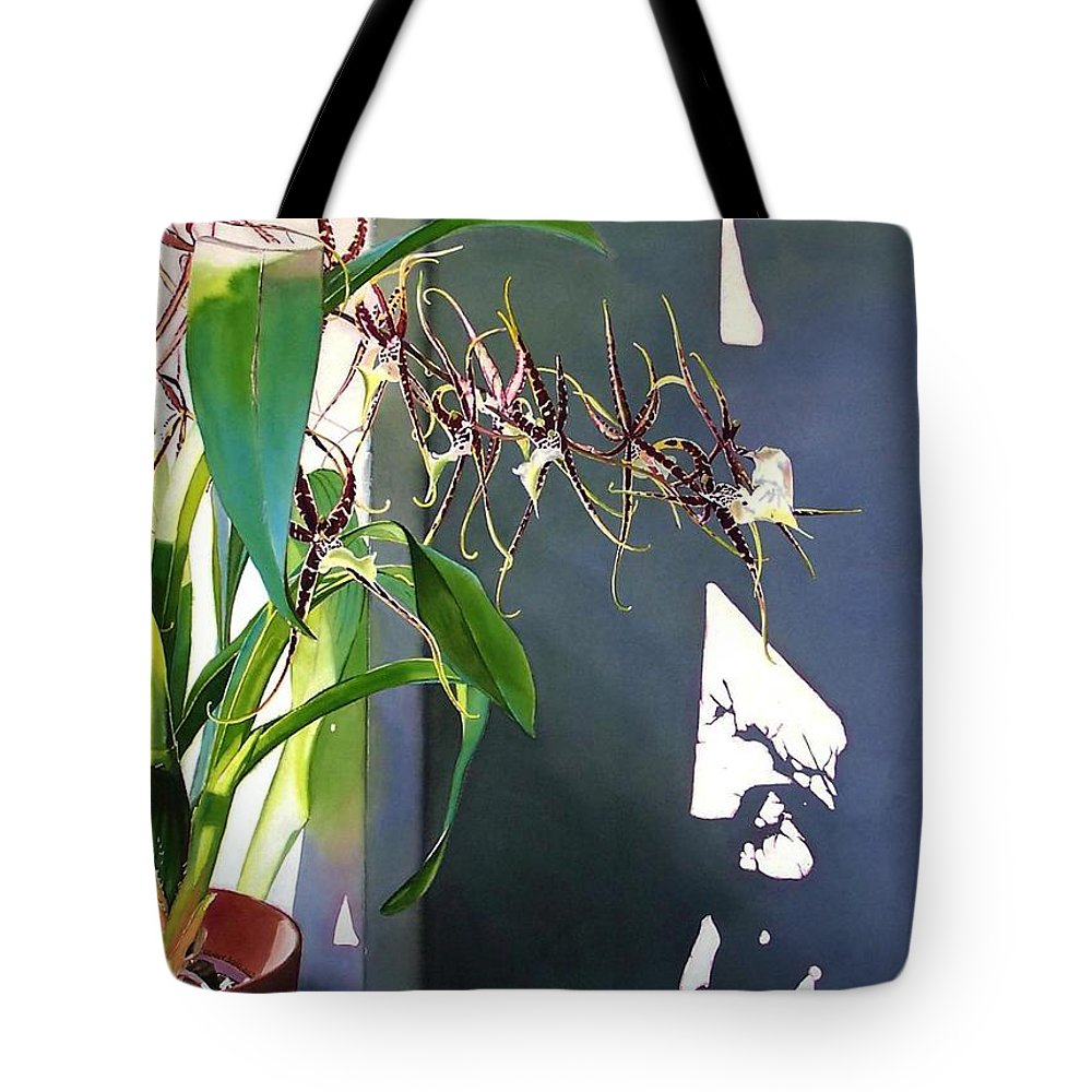 Plant Tote Bag featuring the painting Frailty by Denny Bond