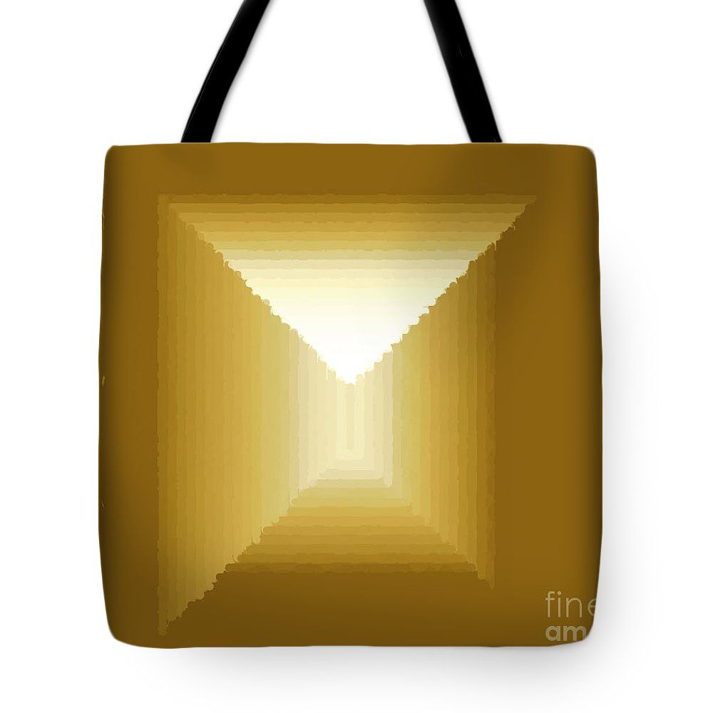 Tote Bag featuring the digital art Frame 6 by Hugh Thompson