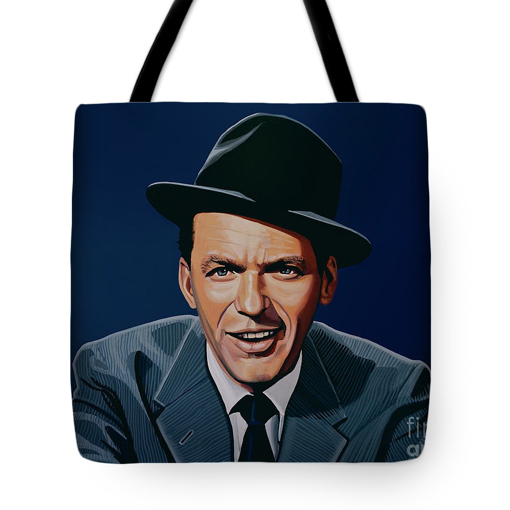 Frank Sinatra Tote Bag featuring the painting Frank Sinatra by Paul Meijering