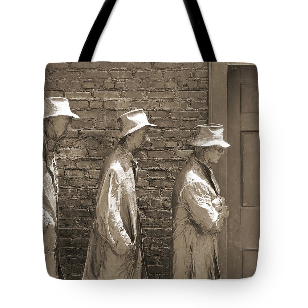 Fdr Tote Bag featuring the photograph Franklin Delano Roosevelt Memorial - Bits And Pieces1 by Mike McGlothlen