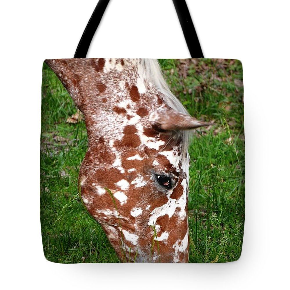 Horse Tote Bag featuring the photograph Freckles by Deanna Cagle