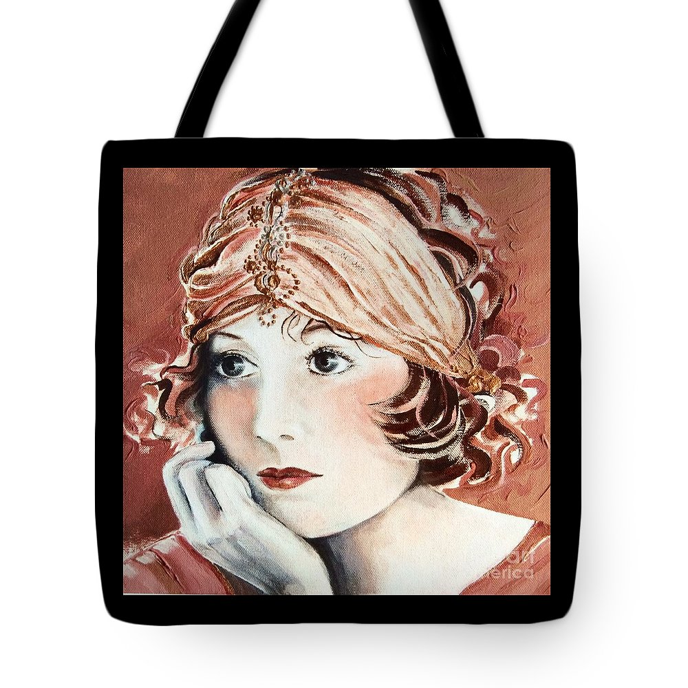 Auburn Tote Bag featuring the painting Free Spirit by Barbara Chase