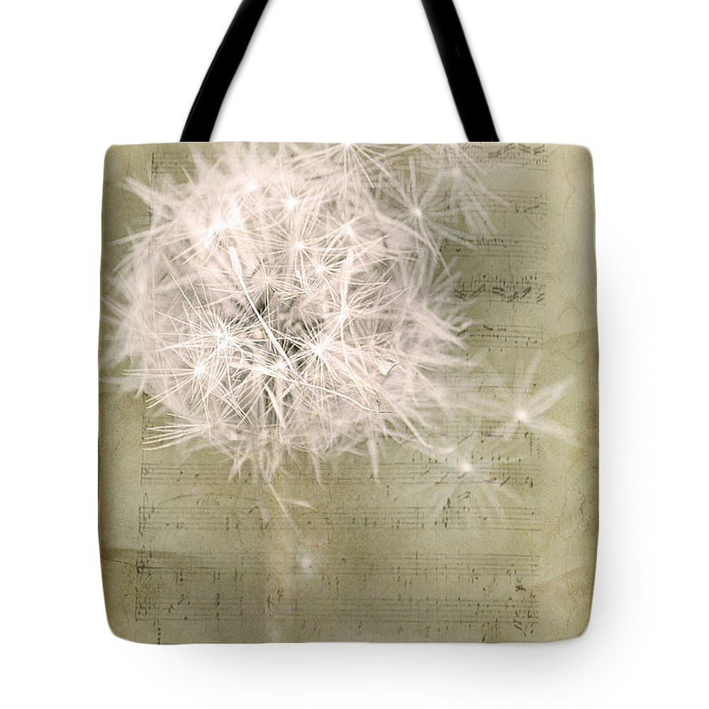 Dandelion Tote Bag featuring the photograph Free To Fly ... by Chris Armytage