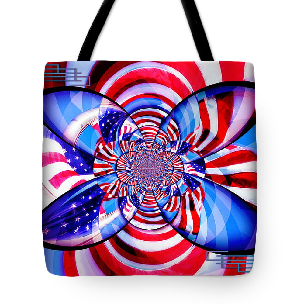 American Flag Tote Bag featuring the photograph Freedom Abstract by Aurelio Zucco