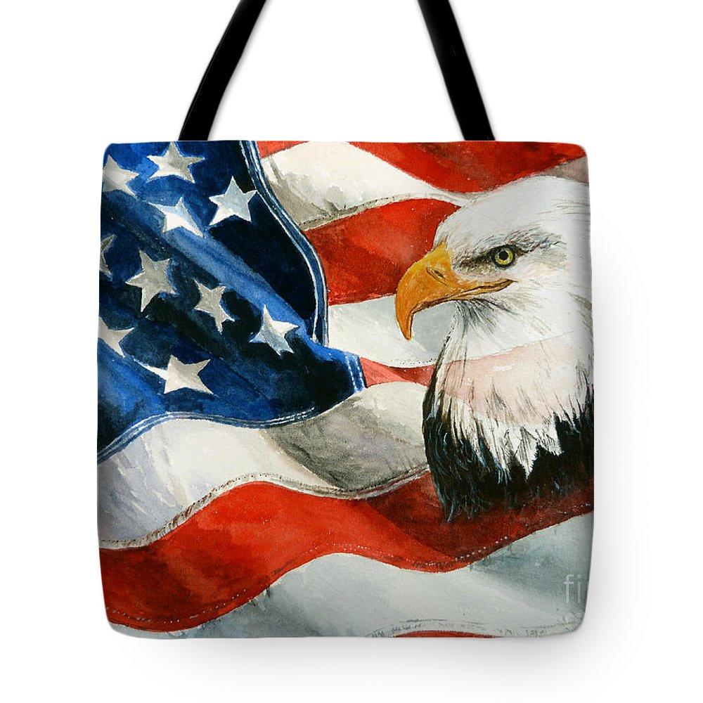 Patriotic Tote Bag featuring the painting Freedom by Andrew Read