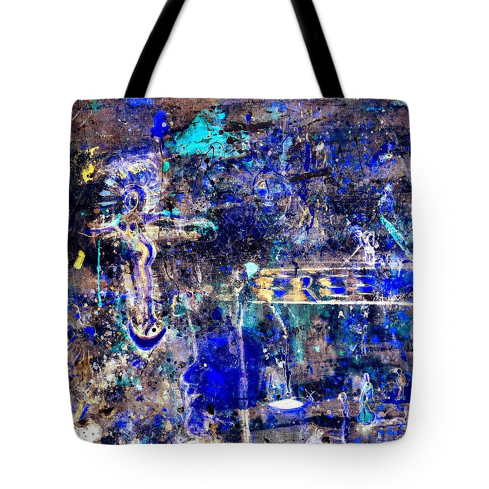 Angel Tote Bag featuring the mixed media Freedom by Giorgio Tuscani
