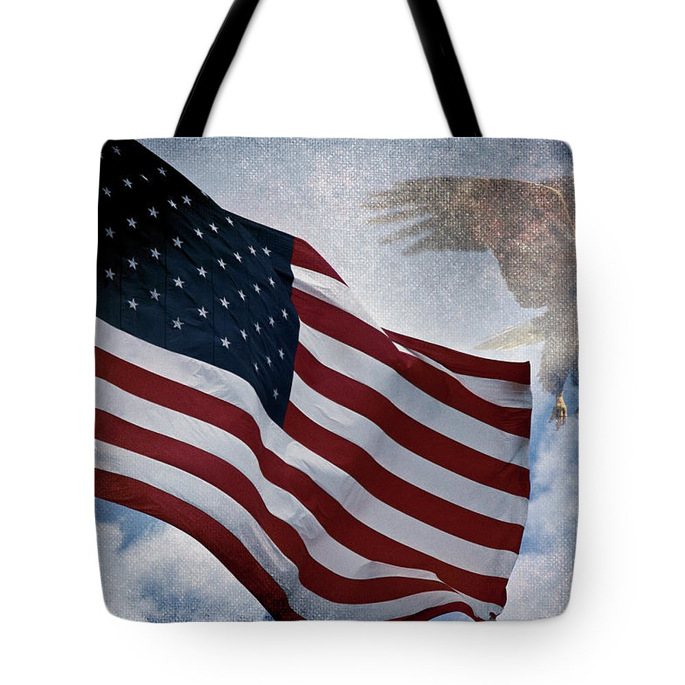 Eagle Tote Bag featuring the photograph Freedom by Scott Pellegrin