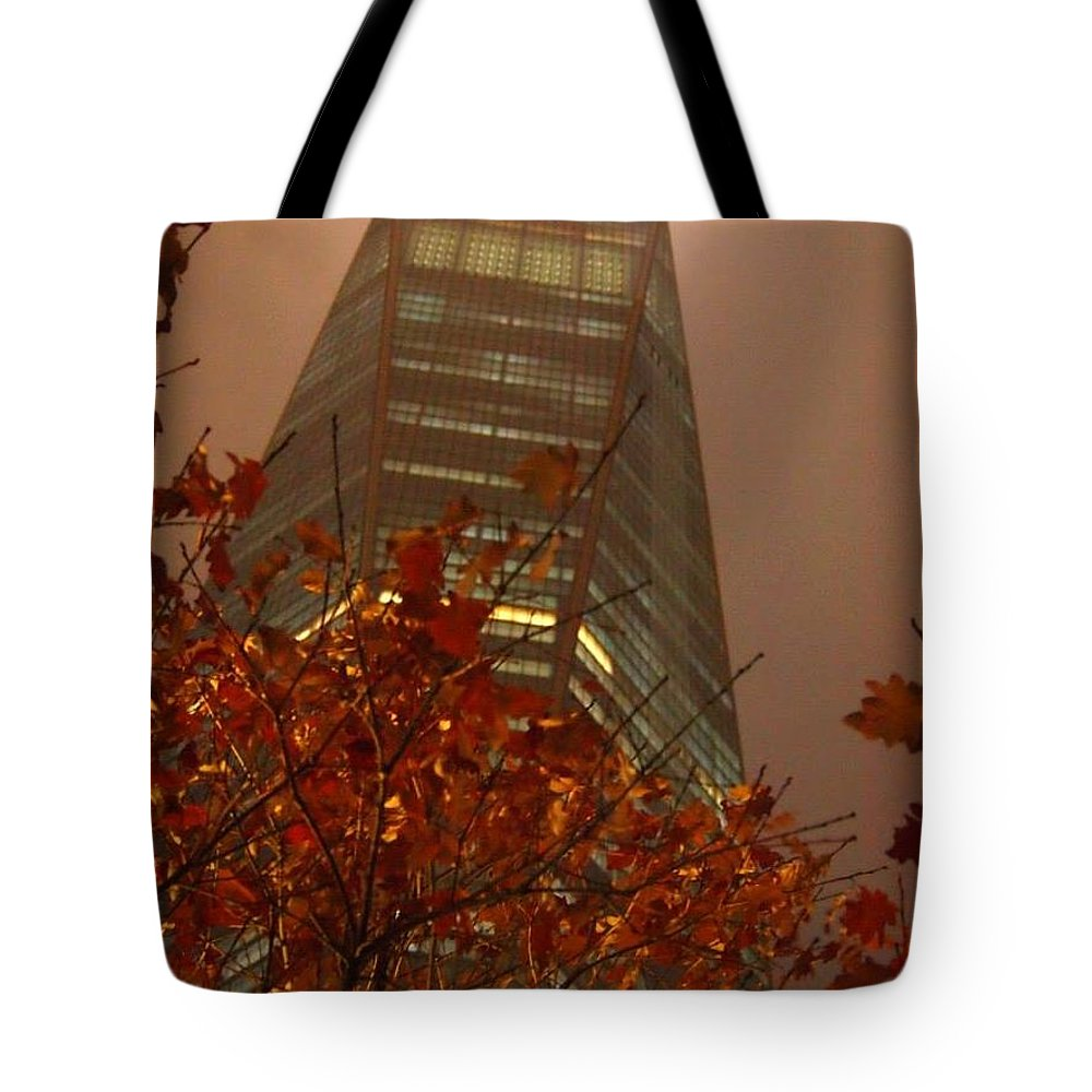 Landscape Tote Bag featuring the photograph Freedom Tower Nyc by Jennifer Craft