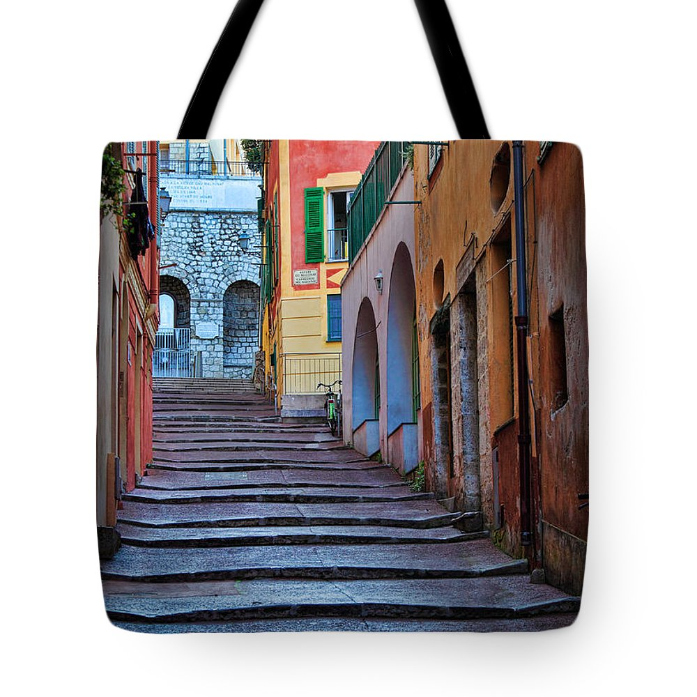 Cote D'azur Tote Bag featuring the photograph French Alley by Inge Johnsson