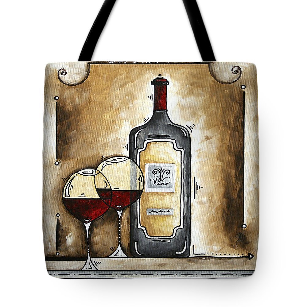 Art Tote Bag featuring the painting French Bordeaux Original Madart Painting by Megan Duncanson