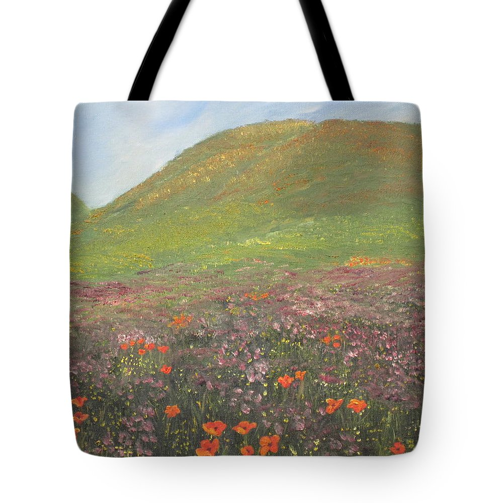 Landscape Tote Bag featuring the painting French Countryside by Barbara McDevitt