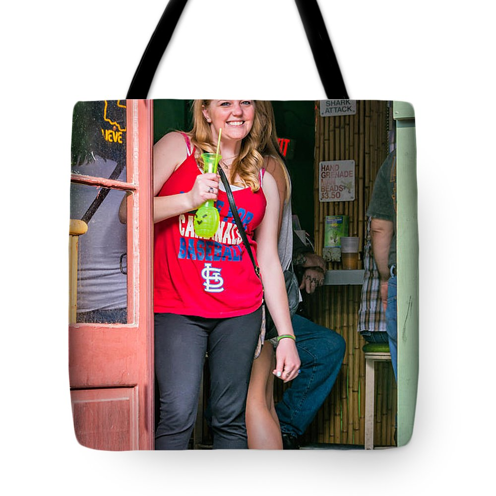 French Quarter Tote Bag featuring the photograph French Quarter - A Hand Grenade To Die For by Steve Harrington