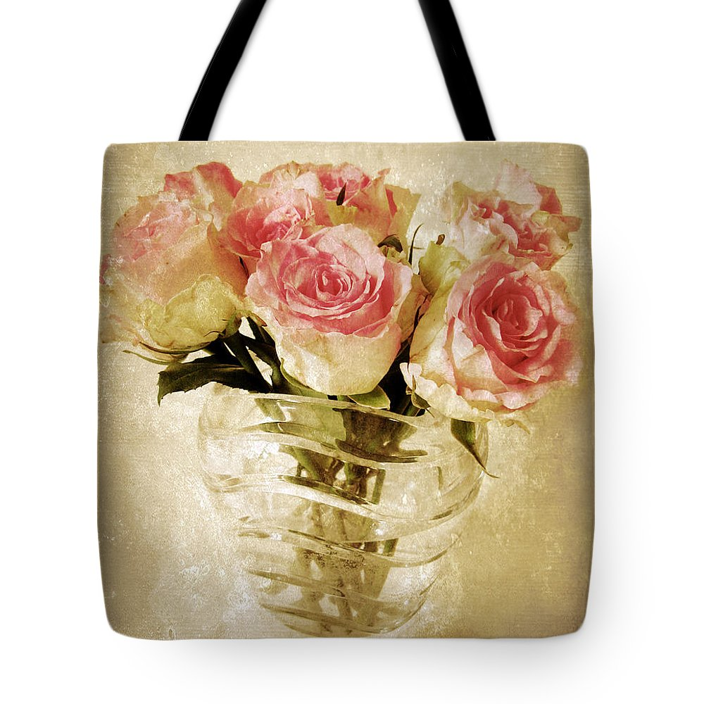 Roses Tote Bag featuring the photograph Fresco Roses by Jessica Jenney