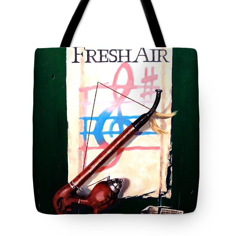 Still Life Tote Bag featuring the painting Fresh Air by Jim Gola