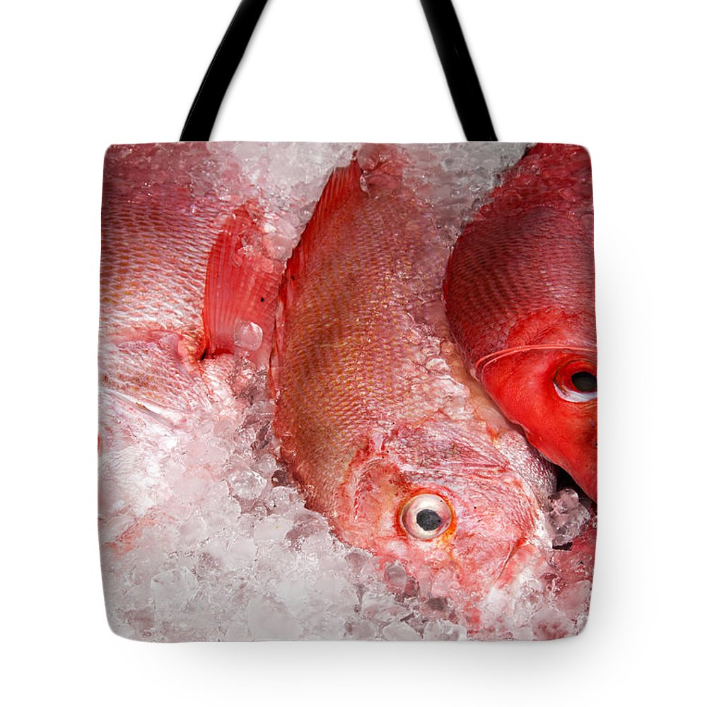 Fresh Tote Bag featuring the photograph Fresh Fish 05 by Rick Piper Photography