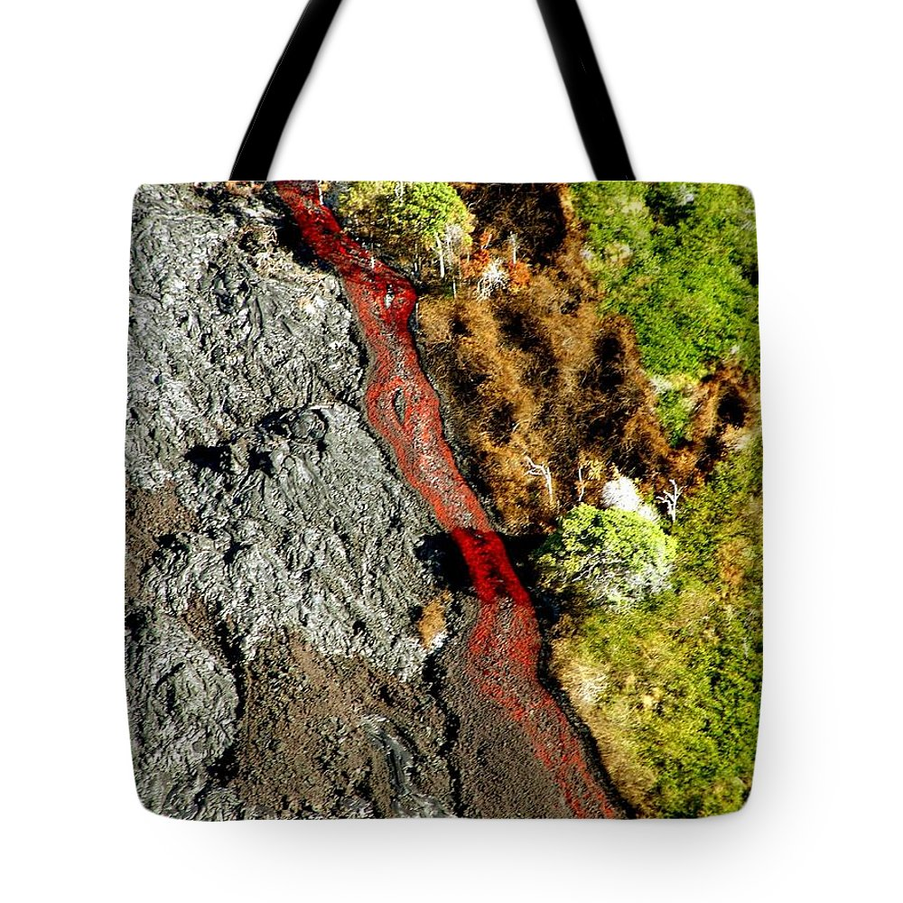 Lava Tote Bag featuring the photograph Fresh River Of Lave by Eric Swan