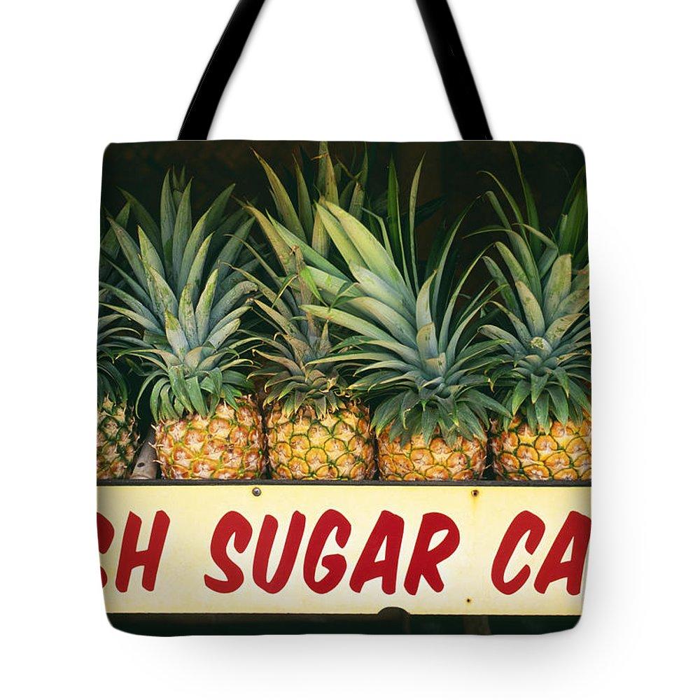 Bin Tote Bag featuring the photograph Fresh Sugar Cane by Dana Edmunds - Printscapes