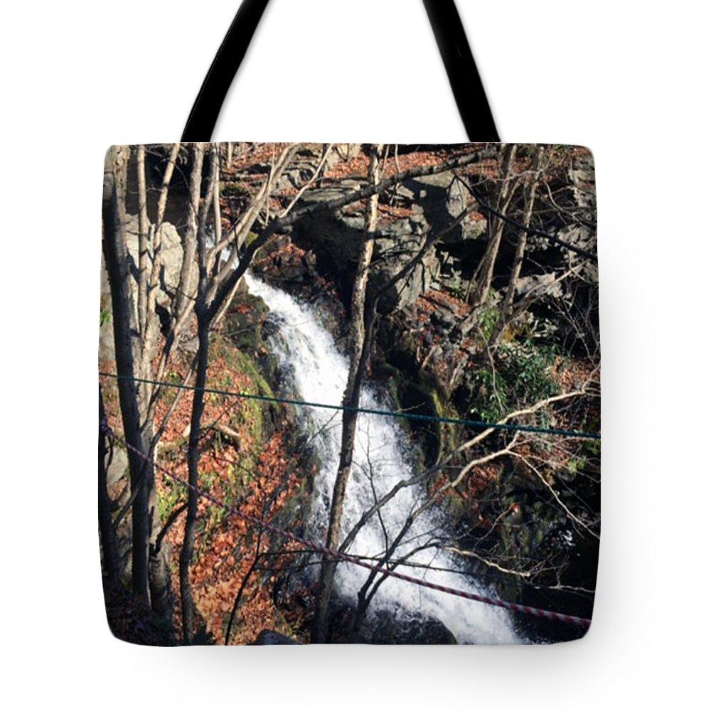 Fresh Tote Bag featuring the mixed media Fresh Water Streams Around Poconos Pa America Usa by Navin Joshi