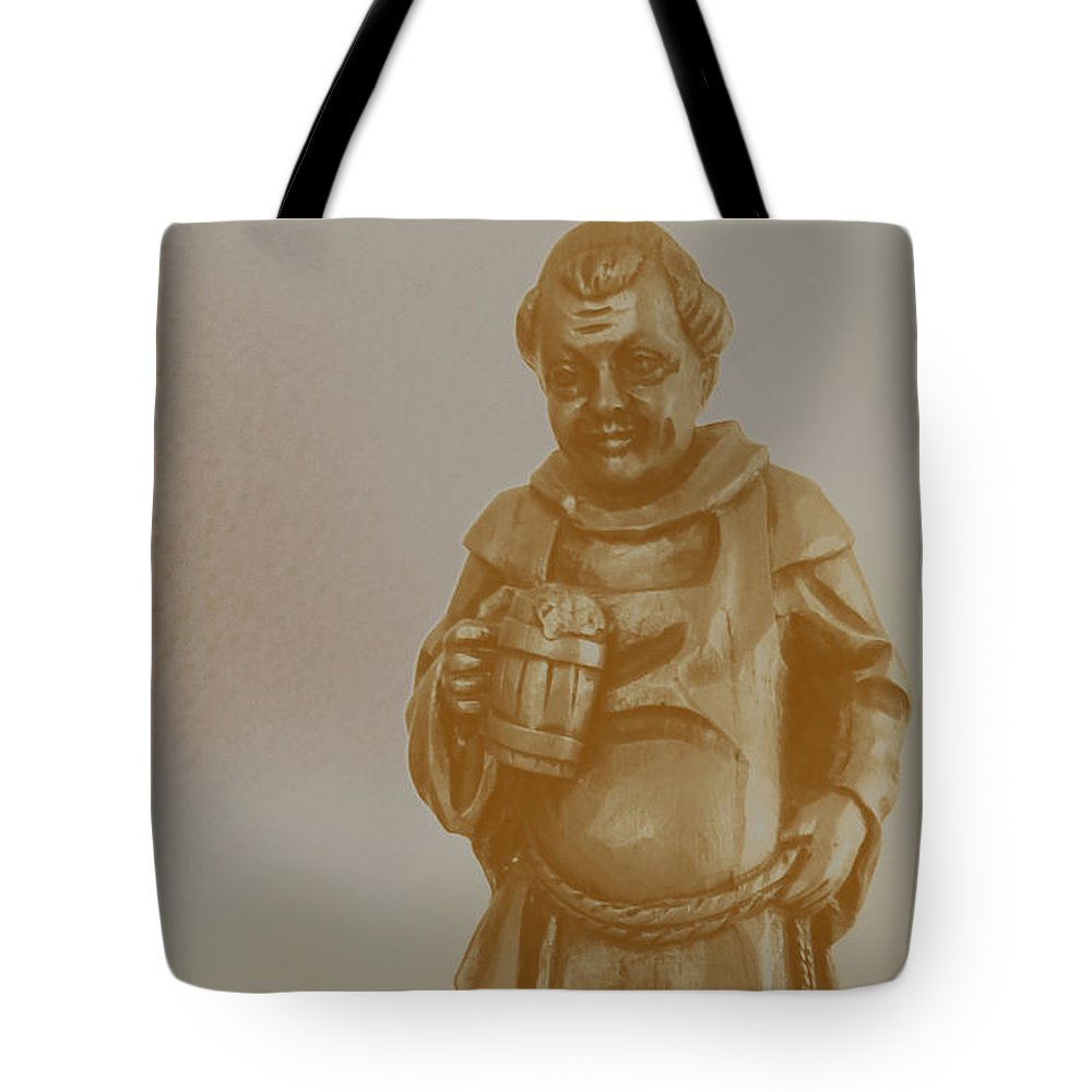 Friar Tote Bag featuring the digital art Friar 1 by Lovina Wright
