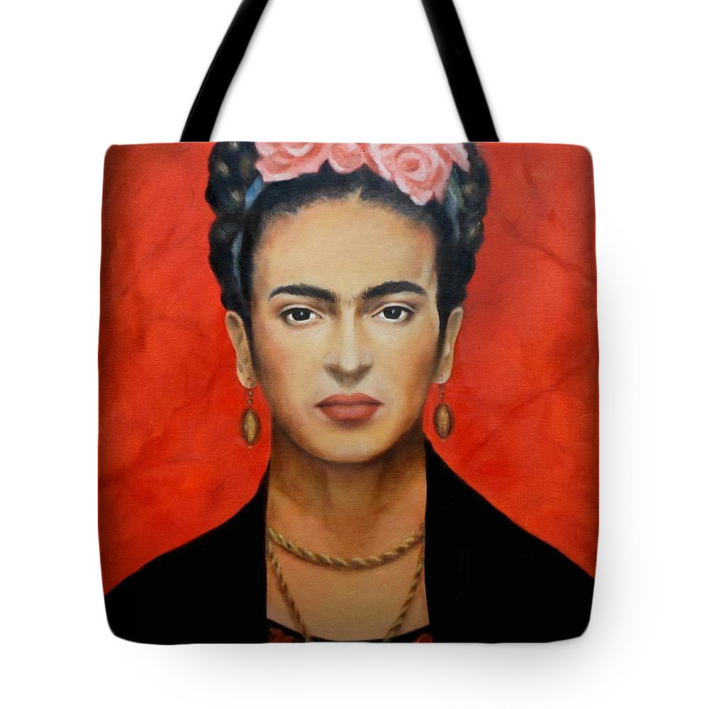 Frida Tote Bag featuring the painting Frida Kahlo by Yelena Day