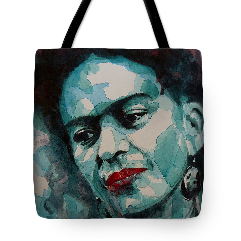 Frida Tote Bag featuring the painting Frida Kahlo by Paul Lovering