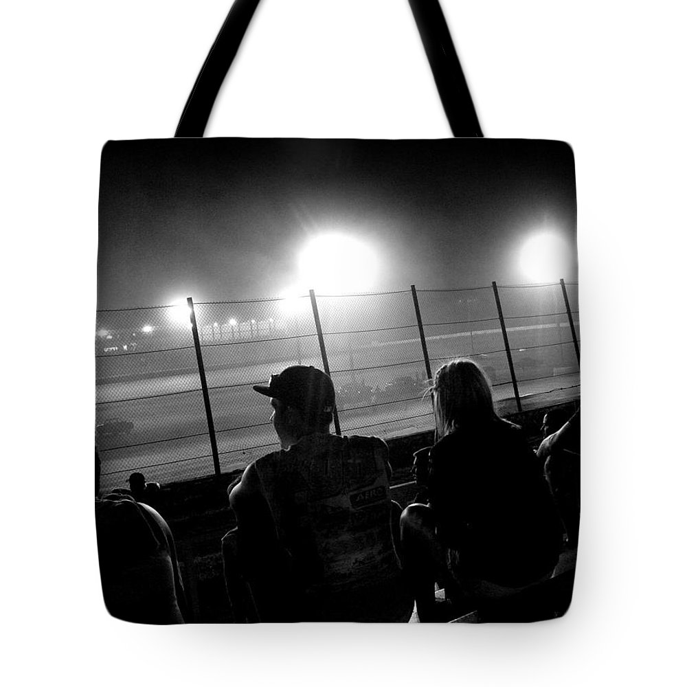 Racing Tote Bag featuring the photograph Friday Night by Robert Shinn