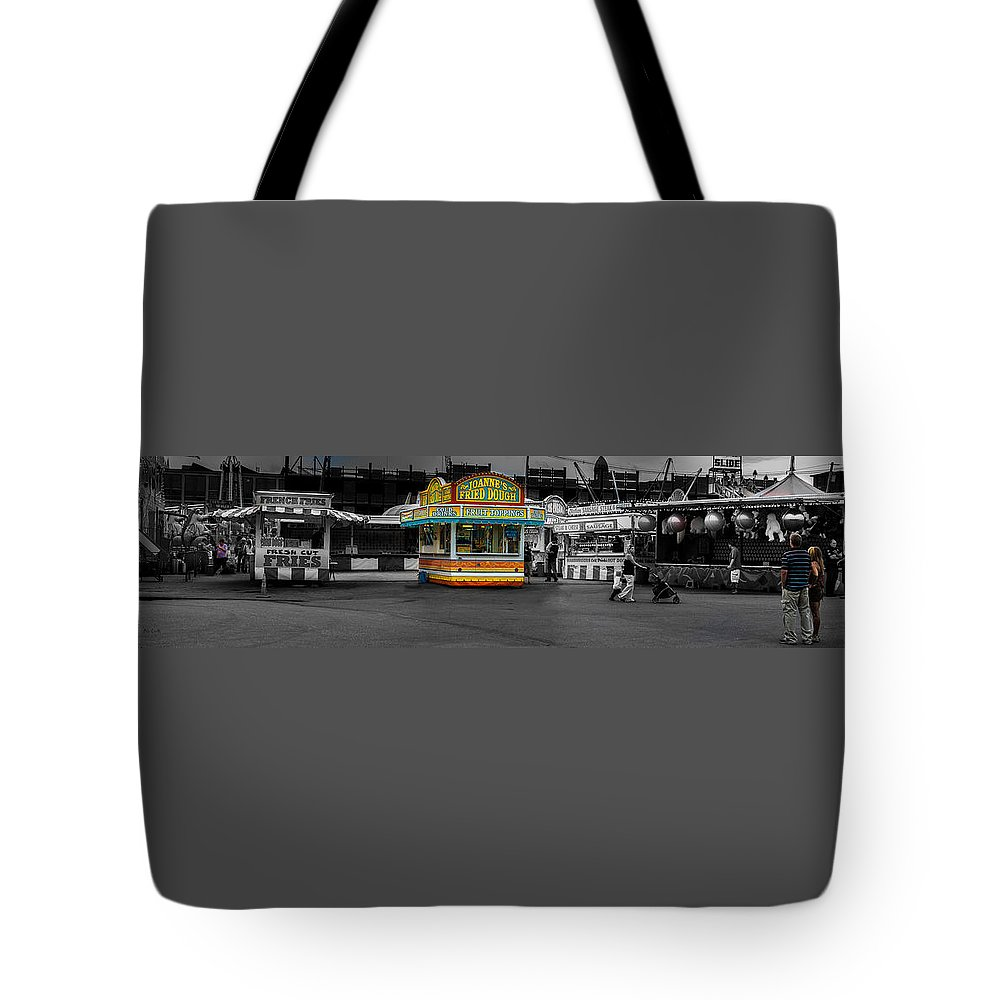 Panorama Tote Bag featuring the photograph Fried Dough by Bob Orsillo