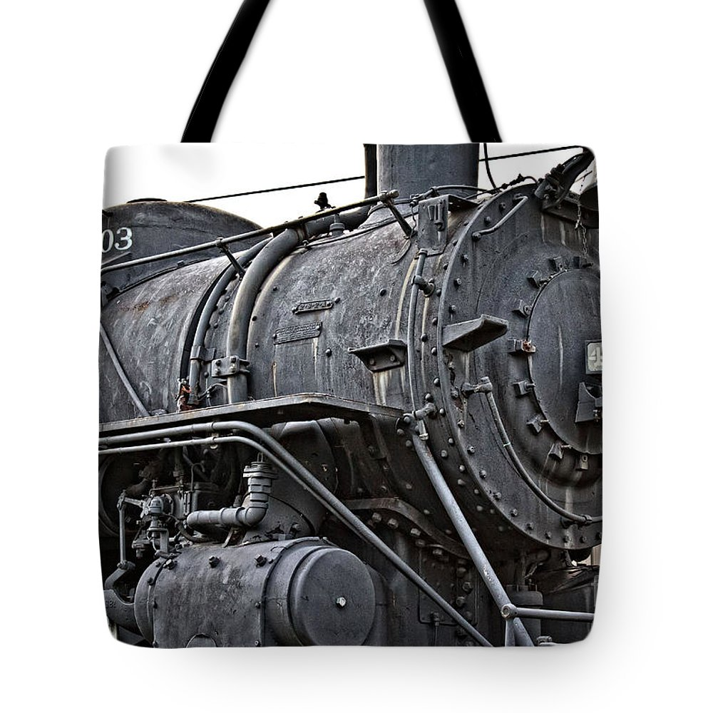Frisco Tote Bag featuring the photograph Frisco Train Locamotive One by Ms Judi