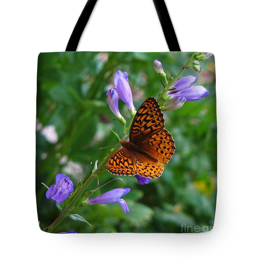 Butterfly Tote Bag featuring the photograph Fritillary Butterfly by Carol Milisen