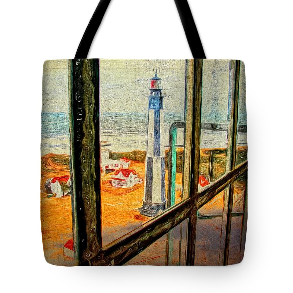 View From Cape Henry Lighthouse Tote Bag featuring the photograph From Cape Henry Lighthouse by Alice Gipson