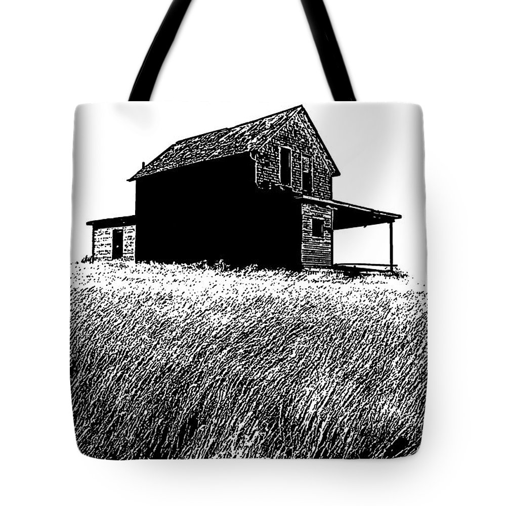 Prairie Architecture Tote Bag featuring the photograph From Days Gone By by Vivian Christopher