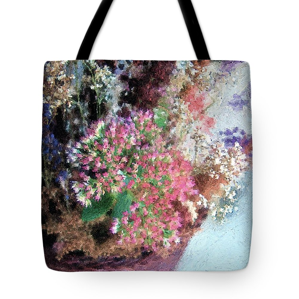 Flowers Tote Bag featuring the painting From Her Secret Admirer by RC DeWinter
