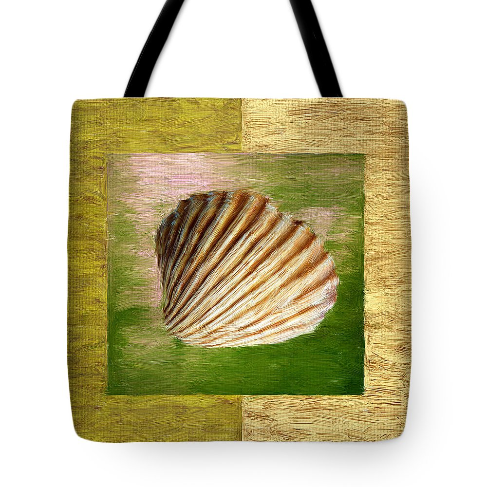 Green Tote Bag featuring the digital art From The Sea by Lourry Legarde