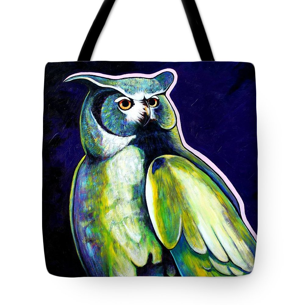 Owl Tote Bag featuring the painting From The Shadows by Joe Triano