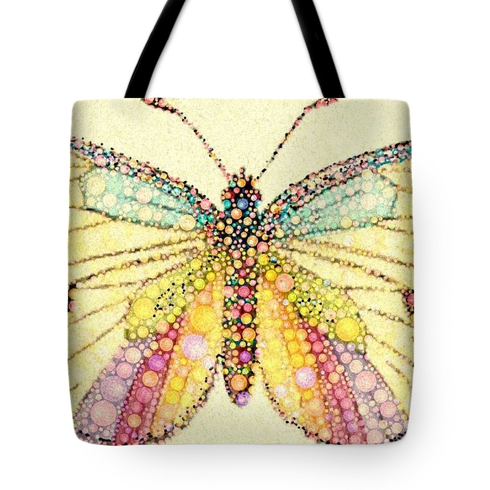 Butterfly Tote Bag featuring the digital art From The Time by Steven Boland