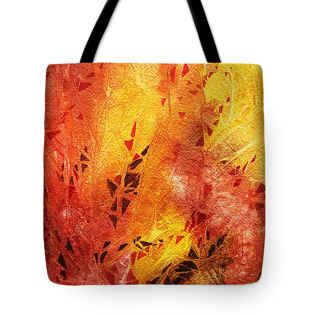 Fire Tote Bag featuring the painting Frosted Fire IIi by Irina Sztukowski