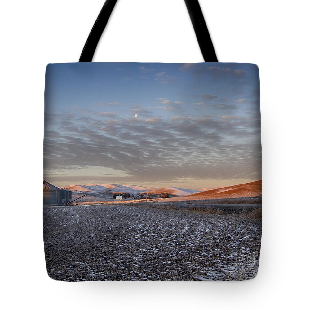 Idaho Tote Bag featuring the photograph Frosted Palouse by Idaho Scenic Images Linda Lantzy