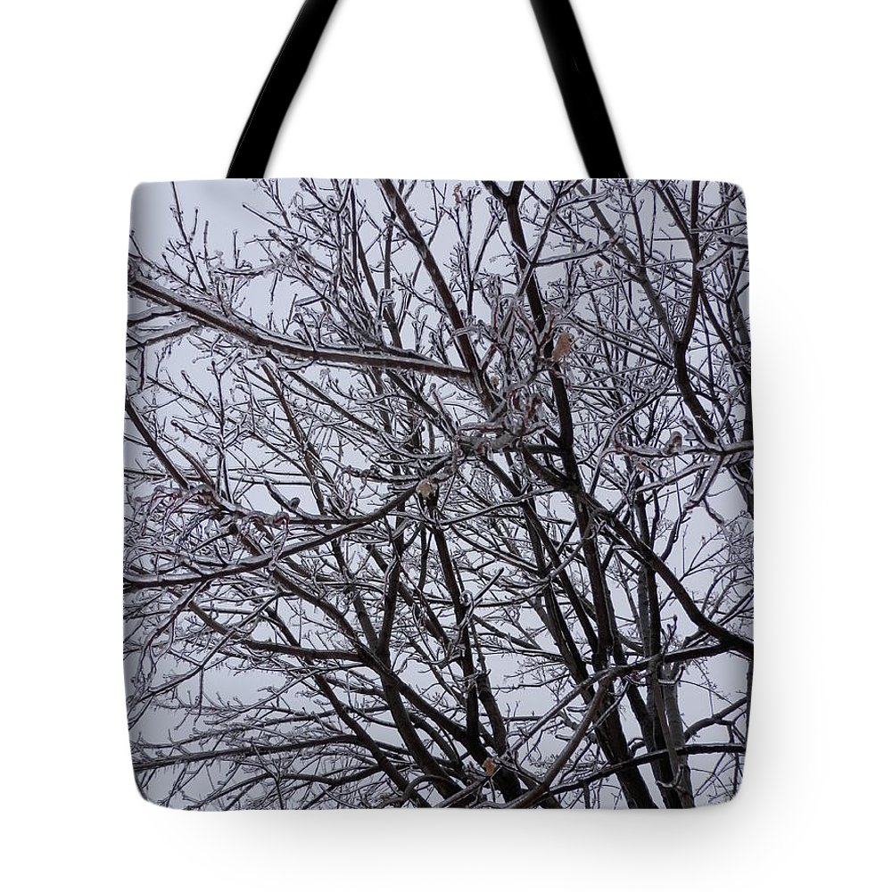 Tree Tote Bag featuring the photograph Frozen 5 by Pema Hou