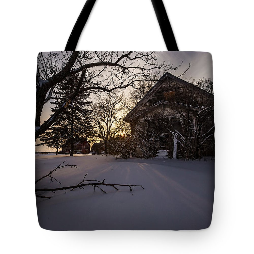 Www.facebook.com/homegroenphotography Tote Bag featuring the photograph Frozen And Forgotten 2 by Aaron J Groen