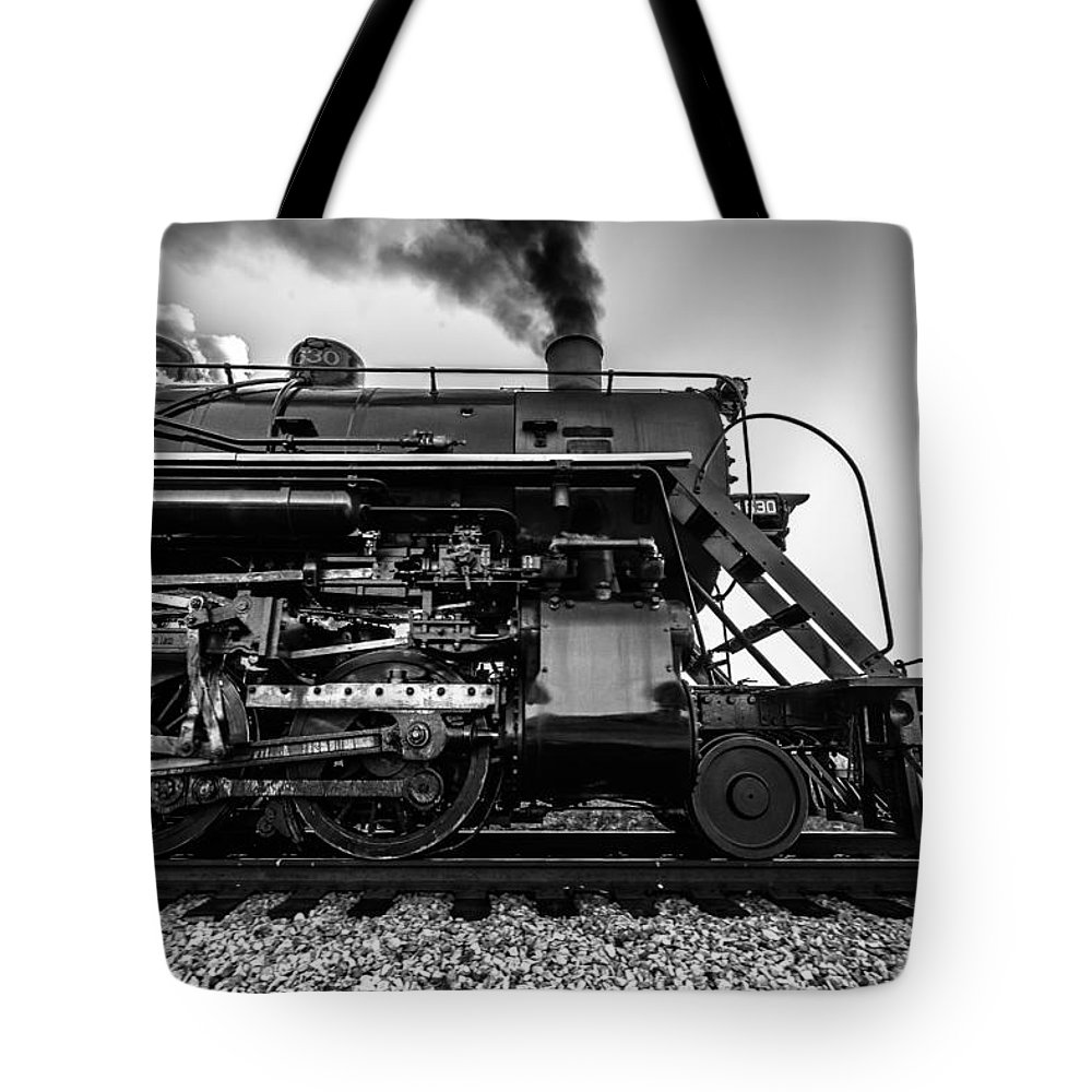 Steam Engine Tote Bag featuring the photograph Frozen In Time by Keith Allen