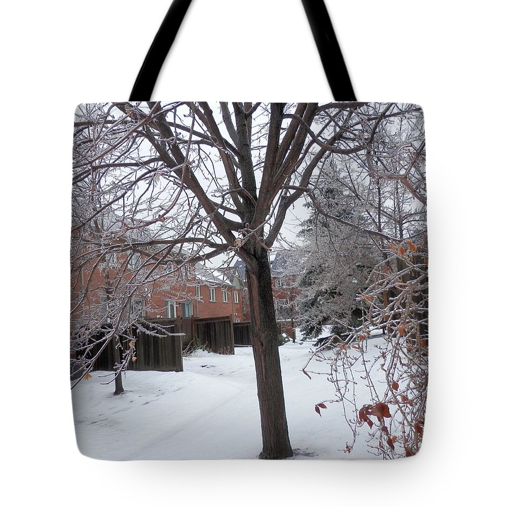 Frozen Tote Bag featuring the photograph Frozen by Pema Hou