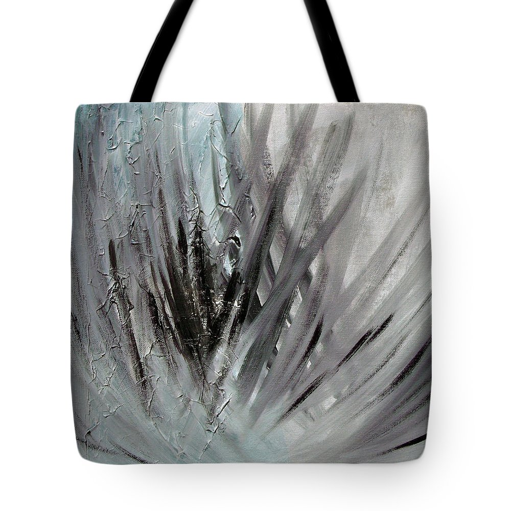 Abstract Tote Bag featuring the painting Frozen by Sergey Bezhinets