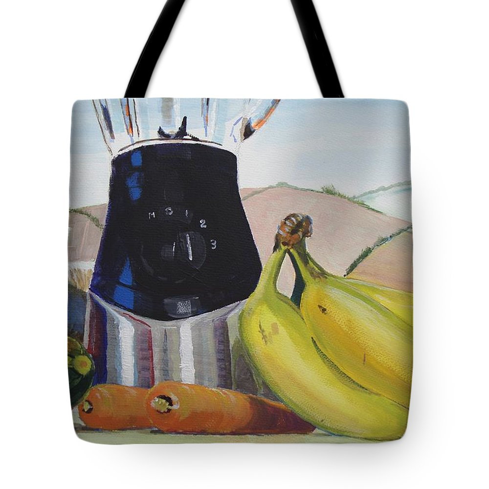 Still Tote Bag featuring the painting Fruit And Vegetables Painting by Mike Jory